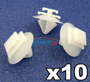 10x-Peugeot-Lateral-Fundicion-bumpstrip-rubstrip-Moldura-De-Plastico-fijacion-Clips