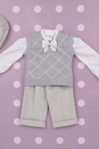 Baby Boy Christening Birthday Smart Outfit Wedding Grey Special Occasion Clothes