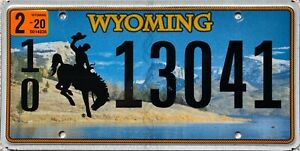Wyoming-Cowboy-Horse-American-License-Licence-USA-Number-Plate-13041