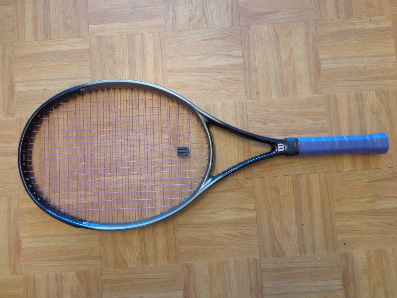 Perfil de martillo Wilson 2.7 2.7 2.7 cabeza de gran tamaño 110 4 1 4 Grip Tenis Raqueta f476af