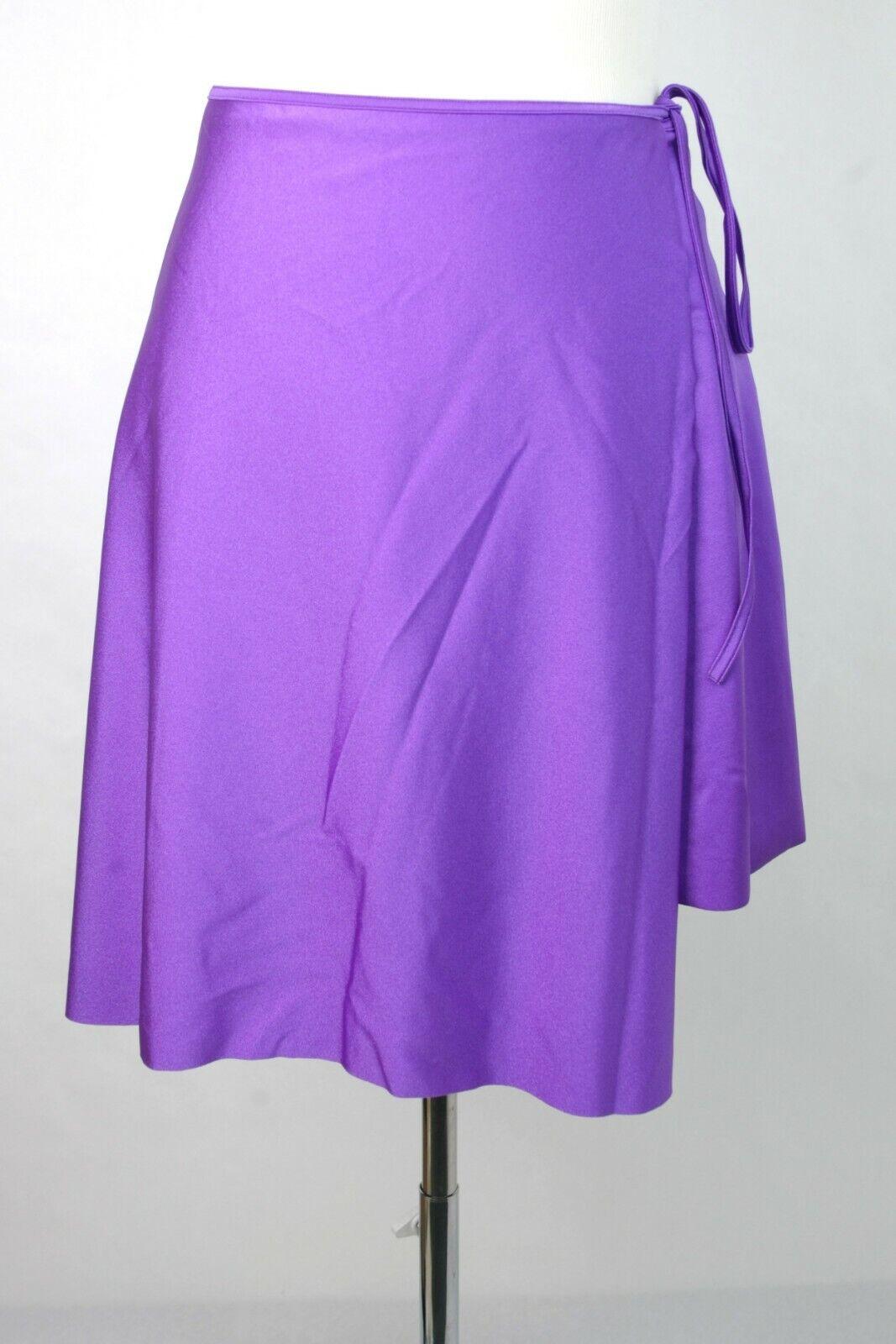 New Balenciaga Women's Purple Spandex Wrap Skirt 38 470936 5100