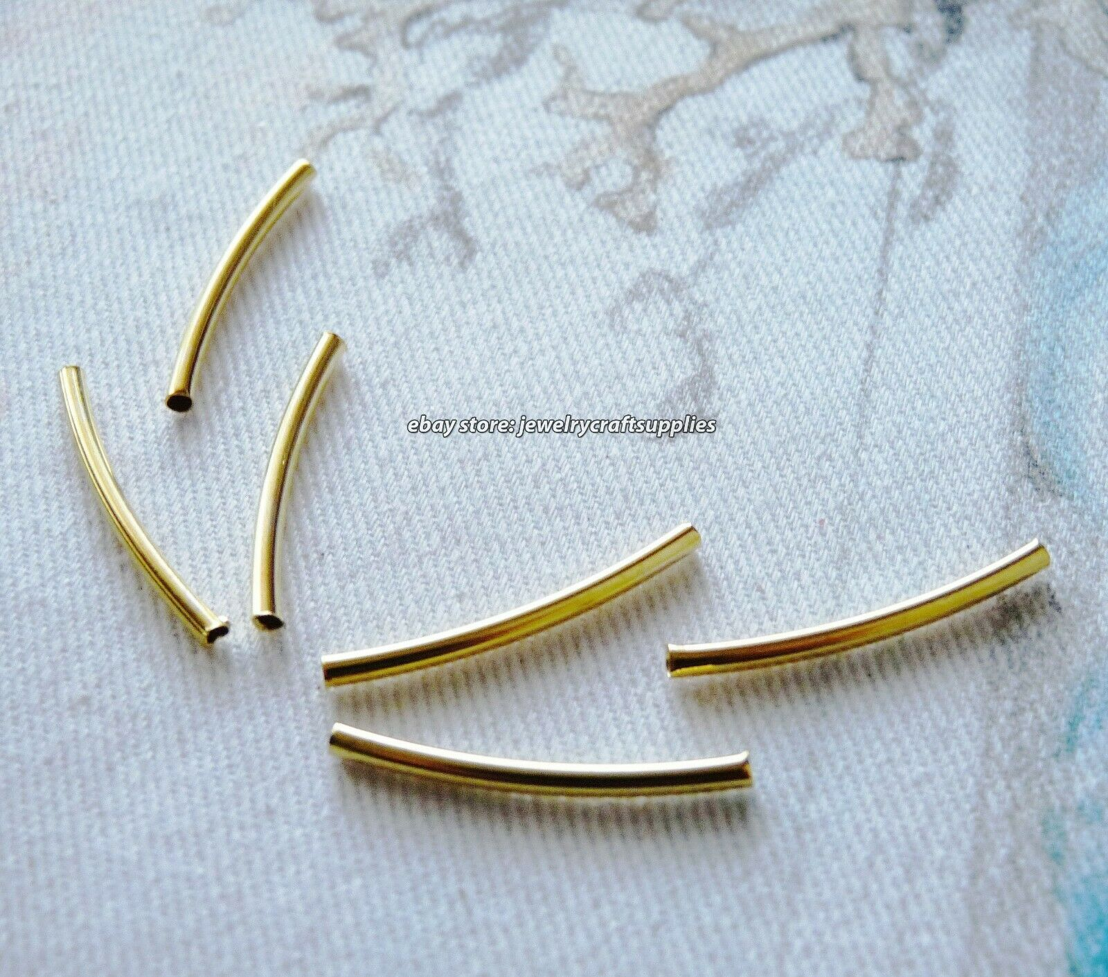 Plated Curved Tube Silver Gold Plated Elbow Noodle Spacer Loose Bead Jewelry
