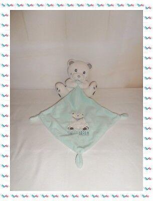 Doudou Ours blanc mouchoir bleu Sweet Dream Simba