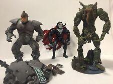 Marvel Legends/Spiderman: Man-thing and Rhino, BONUS damaged Morbius!