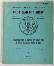 1972 Instituto Nacional De Pesca BOLETIN CIENTIFICO Y TECHNICO v. 2, no. 2