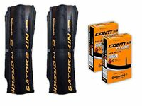 Continental Gatorskin Road Bicycle Folding Tire Pair With 2 Compatible Tubes