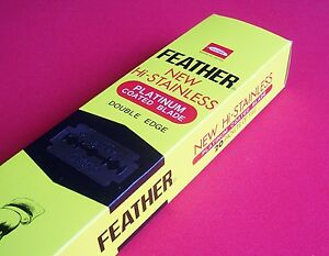 FEATHER-RAZOR-BLADES-PLATINUM-DOUBLED-EDGED-NEW-STAINLESS-SHAVING-U-PICK-QTY