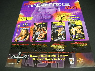 World Championship Wrestling Get The Inside Story 1999 Promo Poster Ad Mint Cond Other Entertainment Mem