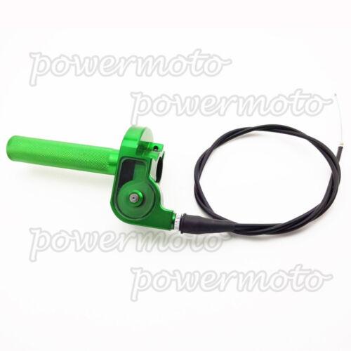 CNC Aluminum Twist Throttle With Cable For Kawasaki KX125 KX250 KLX110 Pit Bike