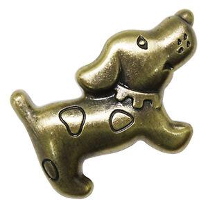 10 Pcs Light Brown Puppy Decor Handles Furniture Cabinet Pull Knobs Hhy-205 Disponible Dans Divers ModèLes Et SpéCifications Pour Votre SéLection