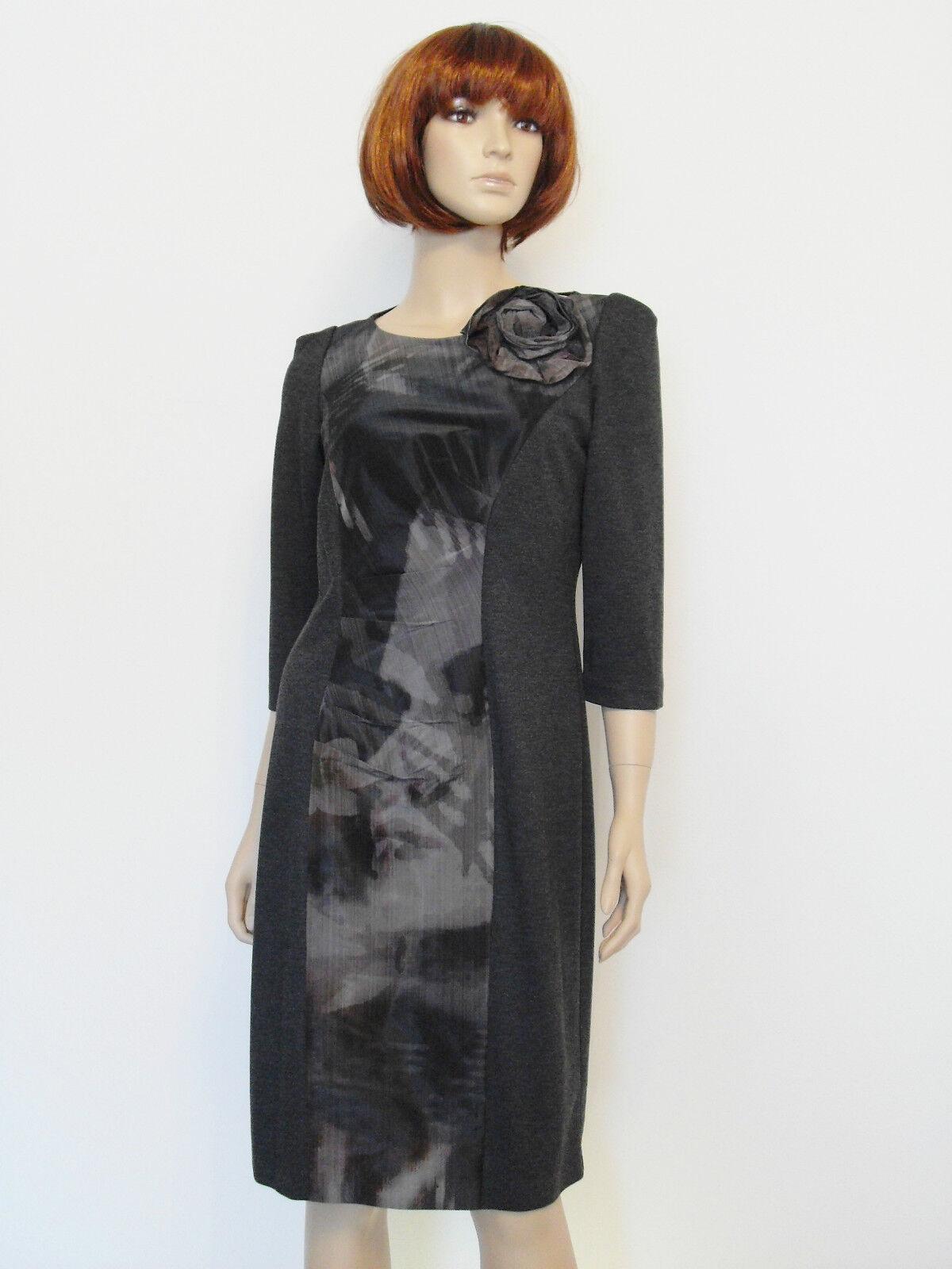 b7ad2d47921 Hondrocream ist die Schnellste Elegantes Designer Kleid Etuikleid Knielang  Jerseykleid Anthrazitgrau Edel Gr Gr Gr 44 e3a56c