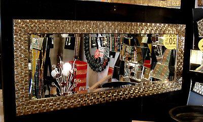 Wand Spiegel Komplette Länge Mosaik Antik Silber Champagner 132x53cm John Lewis