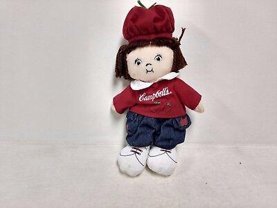 Amiable Campbells Enfants 8in Sac Poupée En Tissu Tomate Fille Brunette Avec Chapeau Easy To Lubricate Poupées, Vêtements, Access.