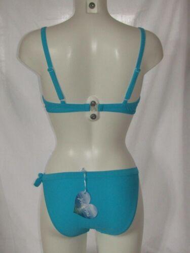 Turquoise Bikini Padded Bra Matching Briefs Bottoms by Hot Honi P3