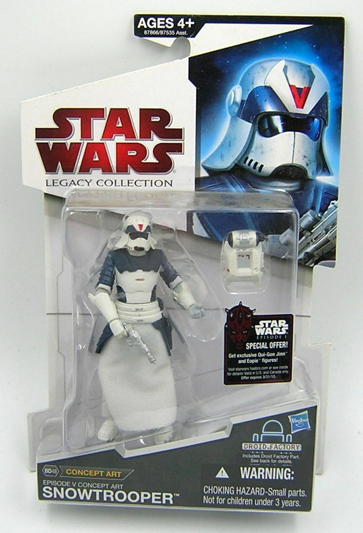 Star Wars Legacy Collection BD48 Concept Art Snowtrooper