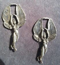 2 - Angel Fairy Large Wings Fly Goddess Naked Nude Breast Earrings - Jewelry