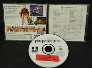 Final Fantasy Tactics Playstation 1 2 PS1 PS2 Game Rare Tested RPG Complete