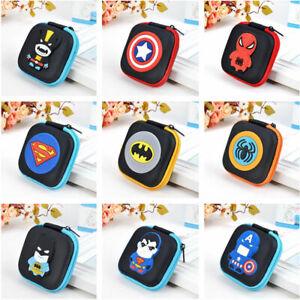 Cartoon Coin Money SD Card Storage Coins Purse Wallet Box Superheroes For Kids
