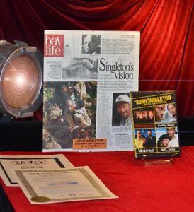 Rare-JOHN-SINGLETON-Signed-Original-Autograph-Frame-Plaque-COA-UACC-DVD-Films