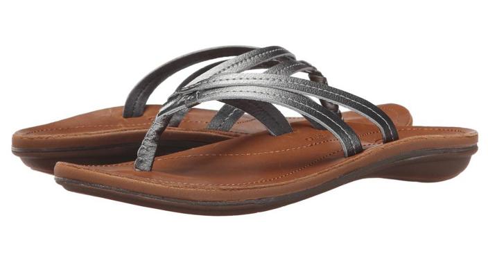Olukai U'I Pewter Sahara Flip Flop Comfort Sandal Sandal Sandal Women's sizes 5-11 NEW 043296