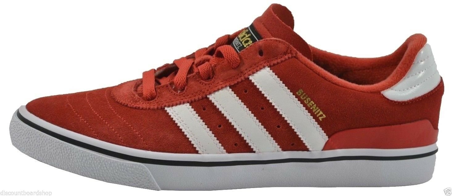 Adidas BUSENITZ VULC Mid Red White Suede Skate (229) Men's Shoes