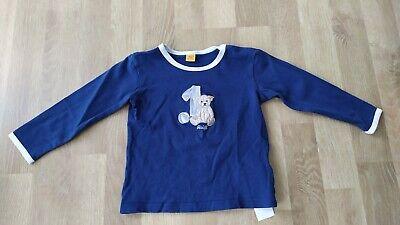 STEIFF Sweatshirt blau gestreift mit Teddykopf Gr.56-86 NEU 6832923