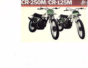 1973 Honda Elsinore CR-250M/CR125M  motorcycle brochure/flyer (Reprint) $7.50