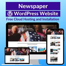 Newspaper Blog Business Affiliate Website Store Free Hostinginstallation