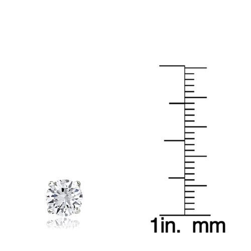 2ct White Topaz 925 Sterling Silver Stud Earrings 6mm