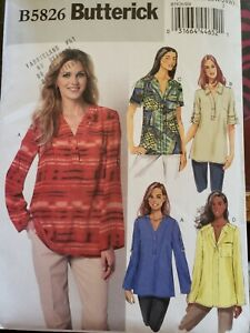 Butterick-5826-Ladies-Plus-Size-Toos-Sz-18W-24W-Uncut-Free-Shipping-Canada-US
