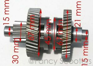Details about 150cc GY6 157QMJ ATV engine W/REVERSE Transmission Gears  CHANGE WAY GEAR ASSY