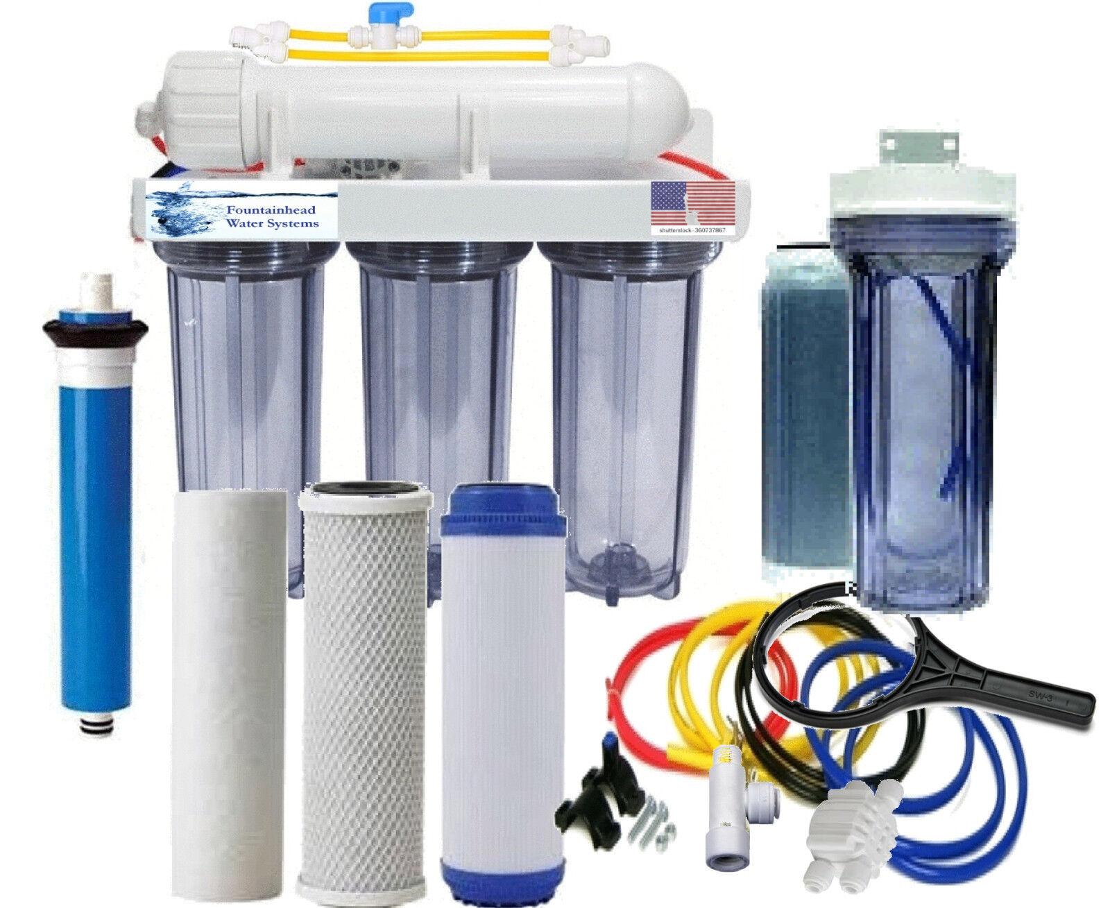 RODI Aquarium Reef System Reverse Osmosis Clear Manual Flush 100G Single DI