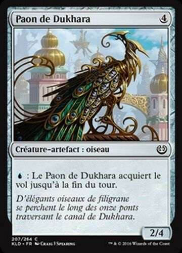 Dukhara Peafowl//Paon de Dukhara x4 French//VF MTG Magic KLD -