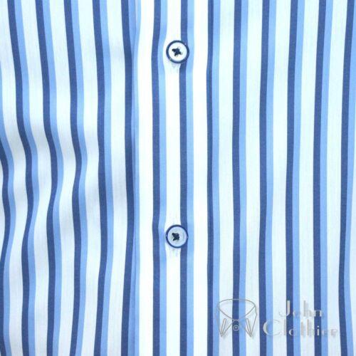 bleu col noires chemise coton collier rayures hommes bague James Nouveaux onglet en Bond nP0Owk
