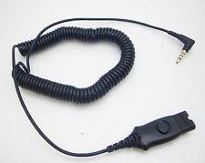 Plantronics IP10 3.5MM QD Coiled Cable MO300 for iPhone Blackberry Samsung & HTC