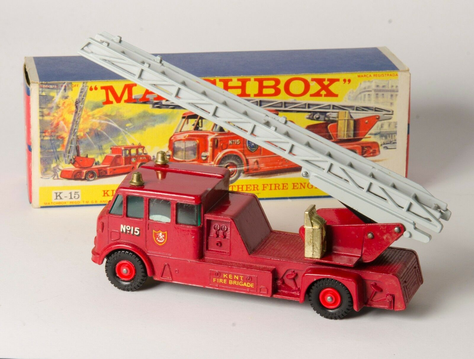 Matchbox King Size K-15 Merryweather Fire Engine. Very Near-MINT. Boxed. 1960s