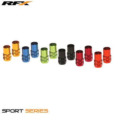 RFX Sport Series Valve Caps /& Valve Key 2pcs RED SUZUKI RMZ250 RMZ450