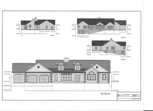 Full Set of single story 3 bedroom house plans 3.232 sq ft