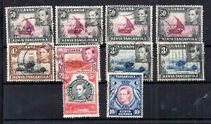 British-KUT-1938-high-values-with-perf-varieties-SG144-149-WS15927