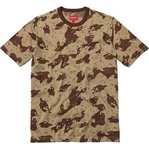 1ab84067fa SUPREME Camo Pocket Tee Shirt Tan L Box Logo safari camp cap camels ...
