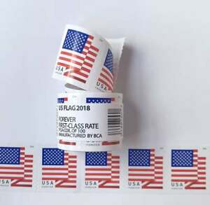1 Roll of 100 USPS US Flag Forever 2018 Postage Stamps Forever