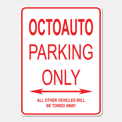 """OCTOAUTO Parking Only Street Sign Heavy Duty Aluminum Sign 9/"""" x 12/"""""""