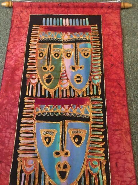 Novica Cotton Batik Mate Masie African Mask By K Baka Tapestry For Sale Online Ebay