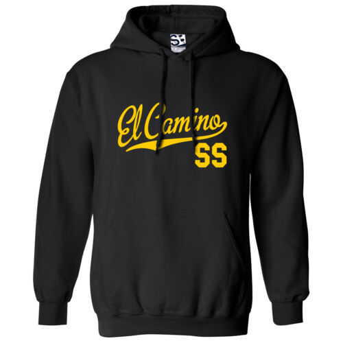 Muscle Car Lowrider Sweatshirt w All Colors El Camino SS Script /& Tail HOODIE