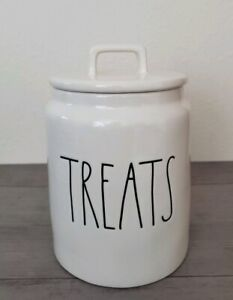 New-Rae-Dunn-by-Magenta-TREATS-Cookie-Candy-Jar-Canister-Farmhouse-Home-Decor