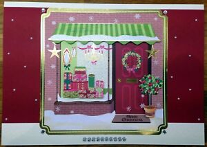 Luxury-Handmade-Personalised-Large-A4-CHRISTMAS-CARD-Shopping-Girlie-Presents