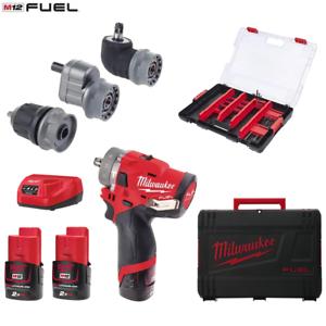 Milwaukee-Akkuschrauber-Set-Combustible-M12FPDXKIT-202XA-2x-2-0Ah-Bateria-con-3