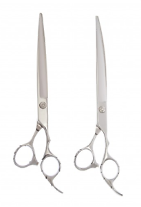 Shears Direct Pet Grooming Set of 2 Shears, Straight & Curved 8.0 in. SET ST5-80