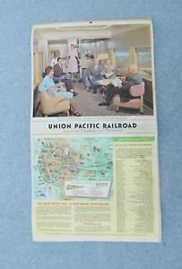 Calendario 1963.Union Pacific Railroad Calendario 1963 Disneyland Navidad 22 X 12