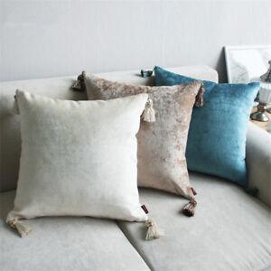 Luxe-Housse-de-Coussin-Taie-d-039-oreiller-Textile-Pendentif-Lombaire-Oreiller-Siege